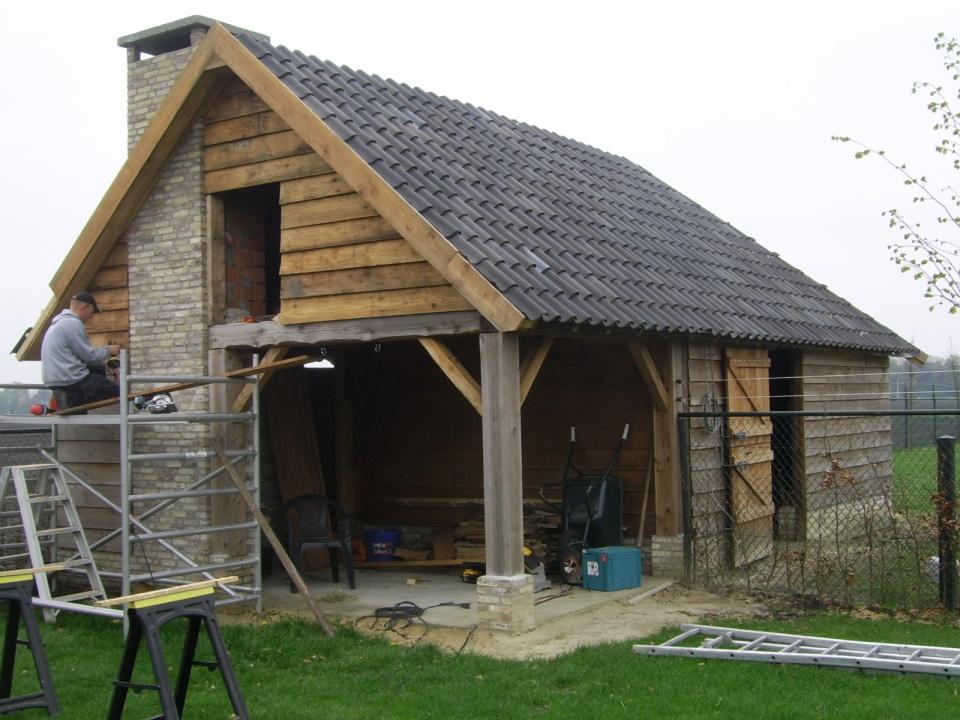 Exclusieve Tuinhuis In Aanbouw01 Landelijkhoutwerk Nl