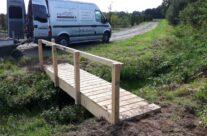 Landschapsinrichting eiken brug